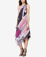Rachel Roy Tie-Neck Printed Midi Dress