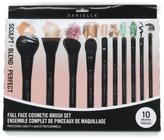 10pc Full Face Cosmetic Brush Set