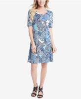 Karen Kane Paisley-Print A-Line Dress