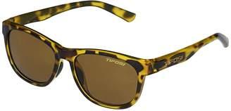 Tifosi Optics Swank (Yellow Confetti Frame Brown Polarized Lens) Athletic Performance Sport Sunglasses
