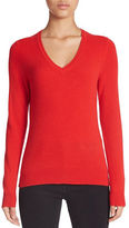 Lord & Taylor Plus Basic V-Neck Cashmere Sweater