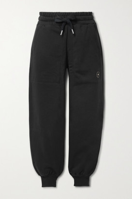 adidas by Stella McCartney Cotton-blend Jersey Track Pants - Black
