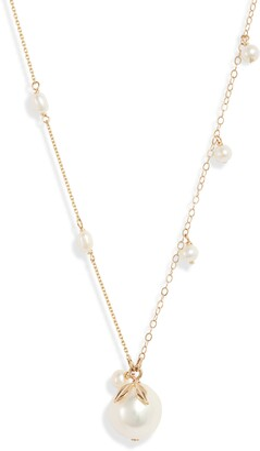 Poppy Finch Pearl Dangle Baroque Pendant Necklace