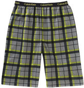 Calvin Klein Plaid Sleep Shorts