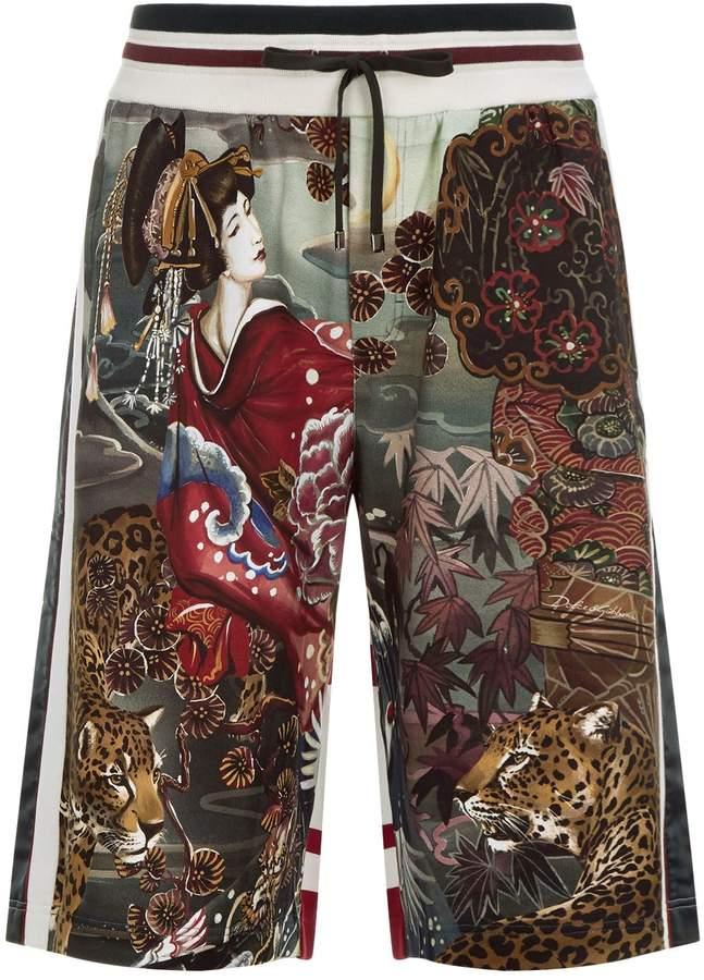 Dolce & Gabbana Printed Cotton Shorts