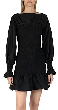 Derek Lam 10 Crosby Dua Smocked Cotton Mini Dress