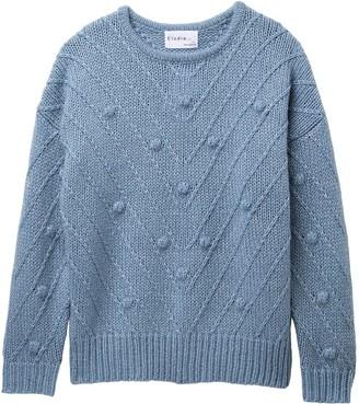 Elodie K Pompom Chevron Sweater (Big Girls)