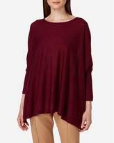 N.Peal Sleeved Superfine Cashmere Poncho