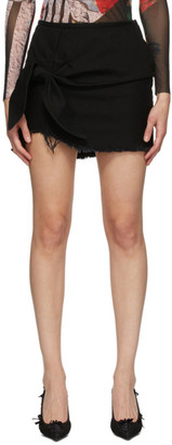 Marques Almeida SSENSE Exclusive Black Knotted Mini Skirt