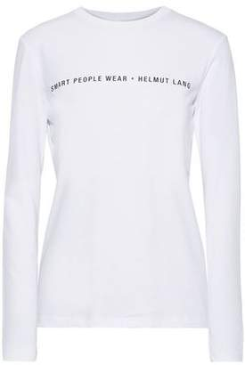 Helmut Lang Printed Cotton-jersey Top