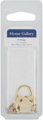 John Lewis & Partners Home Gallery Brass Plated D Rings, Pack of 2