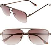 Quay Poster Boy 47mm Gradient Semi Rimless Navigator Sunglasses