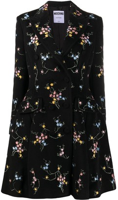 Moschino Floral-Embroidered Coat