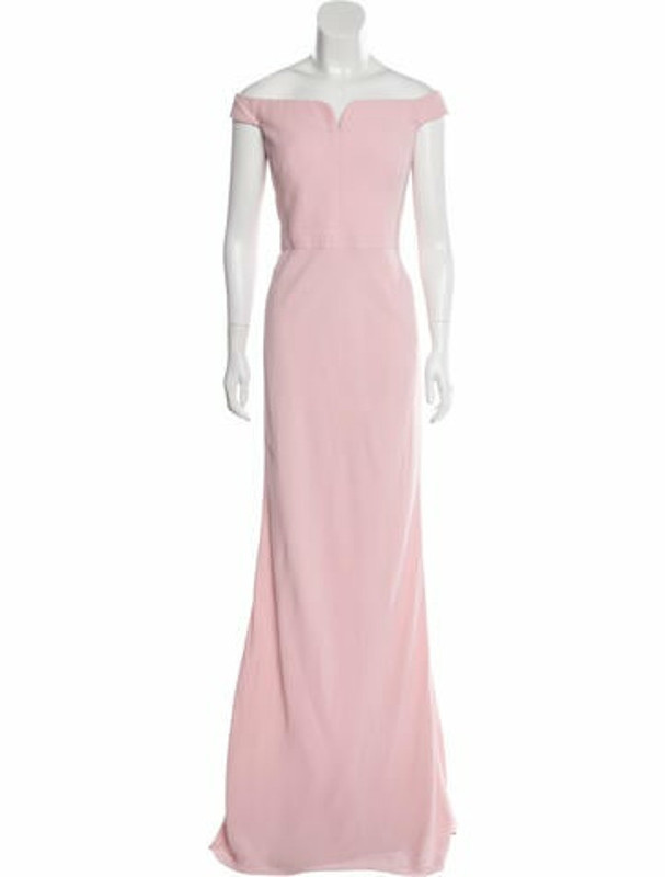 Alexander McQueen Off-The-Shoulder Evening Gown Pink