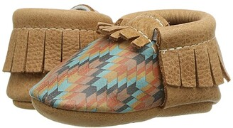Freshly Picked Desert Knit Moccasin (Infant/Toddler) (Brown/Multi) Kid's Shoes