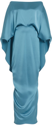 Hellessy Berenice Silk Cape Dress