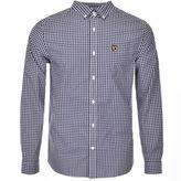 Lyle & Scott Long Sleeved Gingham Shirt Navy
