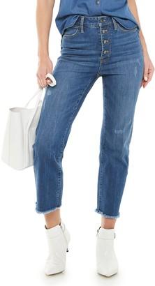 JLO by Jennifer Lopez Women's High-Waisted Straight-Leg Crop Jeans