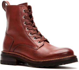 Frye Ella Moto Lace Leather Boot