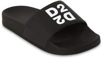 DSQUARED2 Logo Printed Slide Sandals