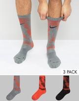 Nike 3 Pack Printed Crew Socks Sx5636-945
