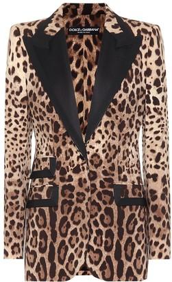 Dolce & Gabbana Leopard-print wool-blend blazer