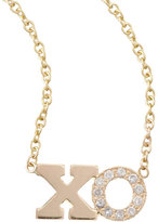 Chicco Zoe Pave Diamond XO Pendant Necklace