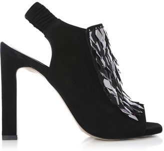 Moda In Pelle Shimmy Black Suede