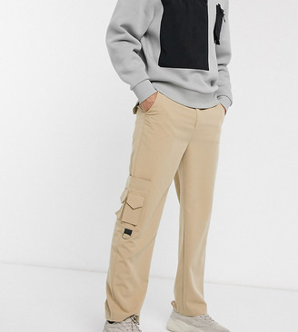 COLLUSION smart cargo pants in stone