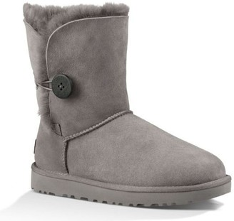 UGG Womens Bailey Button II Boot Grey Size 5