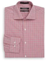 Saks Fifth Avenue Classic-Fit Plaid Cotton Dress Shirt