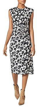 Joie Zuzana Printed Knot-Waist Dress