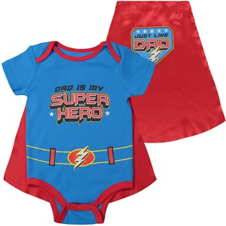 FunStuff Father's Day Super Hero Dad Infant Baby Boys' Bodysuit & Cape