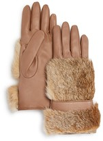 Bloomingdale's Cashmere Lined Rabbit Fur Gloves