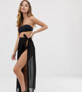 Asos DESIGN Petite recycled maxi chiffon beach sarong