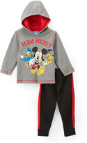 Children's Apparel Network Mickey Mouse Gray 'Team Mickey' Hoodie & Pants - Toddler