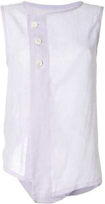 Y's Front Buttoned Vest Top