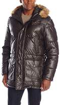 Tommy Hilfiger Men's Faux Leather Quilted Parka