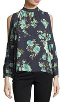 Collective Concepts High-Neck Floral-Print Blouse