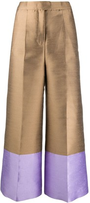Pt01 Mia two-tone trousers