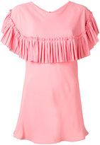 Marni pleated trim cape top - women - Silk/Acetate - 40