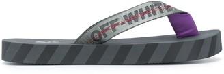 Off-White Logo Strap Flip Flops