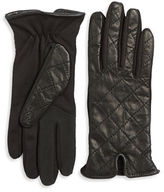 Lord & Taylor Quilted Leather Tech Gloves