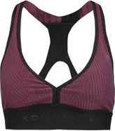Koral Jacquard stretch-jersey sports bra