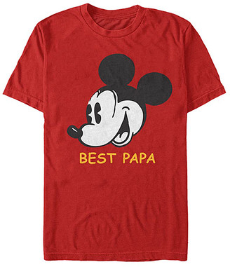 Fifth Sun Tee Shirts RED - Mickey Mouse Red 'Best Papa' Tee - Adult