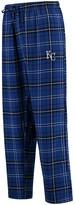 Unbranded Men's Concepts Sport Royal/Black Kansas City Royals Ultimate Plaid Flannel Pants