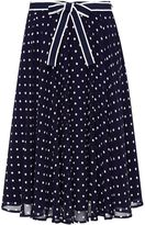 Hallhuber Swinging polka dot midi skirt
