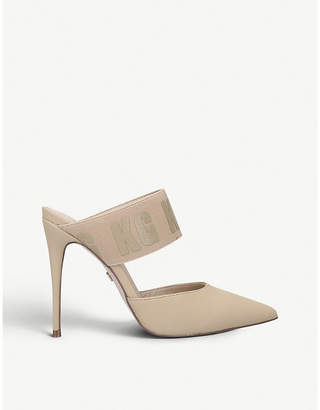 Kurt Geiger Arlo elastic-strap faux-suede stiletto heels