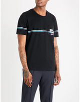 Bally Embroidered-logo cotton-jersey T-shirt