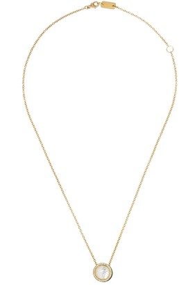 Ippolita 18kt yellow gold and green ceramic short Lollipop Carnevale crystal and diamond pendant necklace